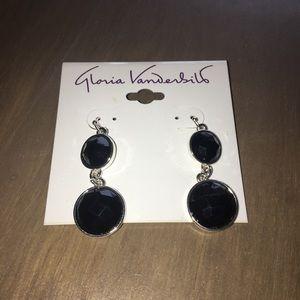 Long Black Stone Earrings